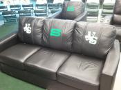 English: Couch in Graham Huskies Clubhouse