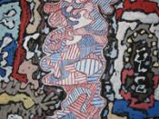 Court les rues by Jean Dubuffet, 1962. Displayed in Milwaukee Art Museum in Milwaukee, WI.