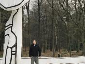 sculpture Jardin d'émail by Jean Dubuffet in sculpturepark KMM in the Netherlands