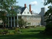 Exterior of the University House at Penn State University, University Park, Pennsylvania.