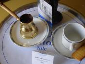 English: Turkish coffee at Cairo Hilton