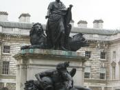 George III statue at Somerset House, The Strand, London
