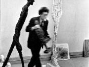 Photograph of Alberto Giacometti by Henri Cartier-Bresson