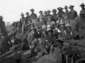 English: Segregated company of US Soldiers (likely Buffalo Soldiers), Camp Wikoff, 1898 --during the Spanish-American War National Archives and Records Administration