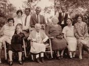 Anna Augusta Kershaw (1841-1931) with children and grandchildren in Rye, New York in August of 1929