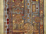 Book of Kells, Folio 292r, Incipit to John. In principio erat verbum.
