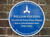 William Golding medal in his former school, Salisbury