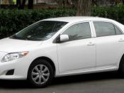 2009 Toyota Corolla photographed in Washington, D.C., USA. Category:Toyota Corolla (E140) Category:White Toyota sedans Category:White Toyota sedans