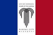English: Flag of Kansas City, Missouri, based on flag in front of City Hall on 17 July 2008