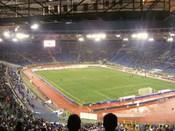 English: The Stadio Olimpico in Rome during a S.S. Lazio's match Italiano: Lo Stadio Olimpico di Roma in una partita della S.S. Lazio