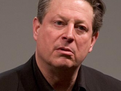 Al gore giving his global warming talk in Mountain View, CA on 7 April 2006. This