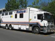 English: AFP - ACT Police Scania P94 truck in Canberra, Australia