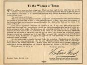 Pamphlet to the Women of Texas
