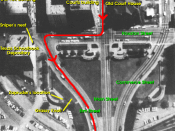 Photo of Dealey Plaza (annotated), from Warren Commission report.