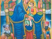 English: Our beloved Lady Saint Mary with Her Son, Our God and The Creator,Our Savior Jesus Christ