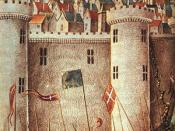 English: Medieval miniature painting of the Siege of Antioch