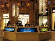 English: Travelocity On Location kiosk seen at The Forum Shops at Caesars in Las Vegas