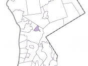 Map of Westchester highlighting Pleasantville