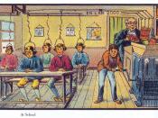 English: France in 2000 year (XXI century). Future school. France, paper card. Русский: Карточка серии