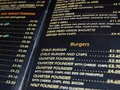 Strange things on the menu here