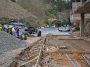 Seguimiento de Obras: contrucción de aceras y pintado de escalinatas en el hospital, Av. Angel Salvador Ochoa