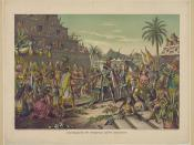 English: Entrance of Hernan Cortes into Mexico Español: Encuentro de Hernán Cortés y Moctezuma
