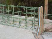 Reinforcement details for parapet wall