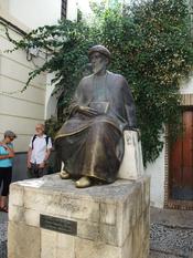 English: Memorial of Maimonides near his birthplace in Córdoba, Spain Deutsch: Denkmal des Moses Maimonides bei seinem Geburtshaus in Córdoba, Spanien