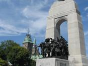 English: Ceremonial guards march by the Tomb of the Unknown Soldier at the National War Memorial in Ottawa, Canada.