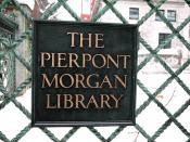 New York City, Mahattan, Murray Hill, The Pierpont Morgan Library & Museum, East 36th St.