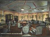 English: The reading and writing room aboard White Star Line's Adriatic