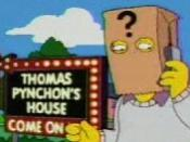 Pynchon depicted in The Simpsons episode