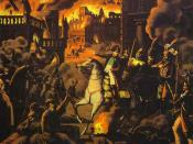 The Moscow fire depicted by an unknown German artist