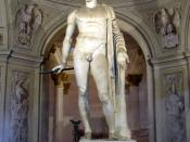 Roman statue of Pompey. It is now in Villa Arconati a Castellazzo di Bollate (Milan, Italy). It was brought there from Rome in 1627 by Galeazzo Arconati. The left hand and the metal parts are not original, but later additions and repairs. It is handed dow