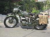 Military Police Triumph Motorcycle