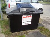 English: A bin for spent cooking oil in Austin, TX