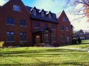 English: Outside of the Allegheny College Admissions Office