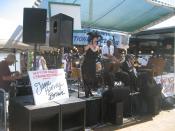 French Quarter Festival, New Orleans, Louisiana. Jane Harvey Brown Jazz Band