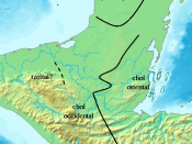 English: Geographical distribution of dialects in the Classic Maya Era Deutsch: Geographische Distribution der Maya-Dialekte in der Klassik. Français : Distribution géographique des dialectes mayas pendant l'époque classique Español: Distribución geográfi
