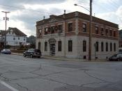 Front view of a municipal building (not City Hall) at 15th Street and 8th Avenue in downtown Beaver Falls, , .
