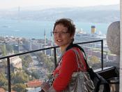 Istanbul - Oct 2008 - Portrait of the Wife with View of the Bosporus