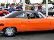 The Plymouth Superbird is famous for its giant rear spoiler.
