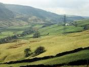 The Pennine Watershed, from above Dean Farm, Cliviger, 1994