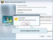 English: this is a screenshot of windows password unlocker, which is a professional windows adimin password unlocker tool