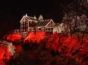 Clifton Mill in Clifton, Ohio is the site of this Christmas display with over 3.5 million lights.