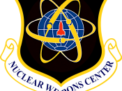 Emblem of the Nuclear Weapons Center of Air Force Materiel Command of the United States Air Force located at Kirtland Air Force Base