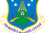 English: United States Air Force Air Reserve Personnel Center emblem. Made with Photoshop.