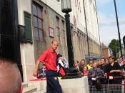 Arsenal striker Dennis Bergkamp