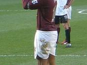 Thierry Henry, playing for Arsenal against Charlton Athletic