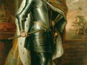 English: Portrait of Russian Tsar Peter I (the Great) by Godfrey Kneller (1698). This portrait was a Peter's gift to King of England.